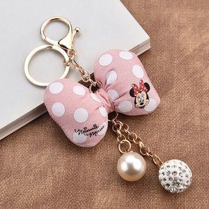Accessories - Minnie Light Pink embellished keychain